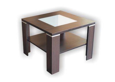 Stolik kwadratowy z szybą